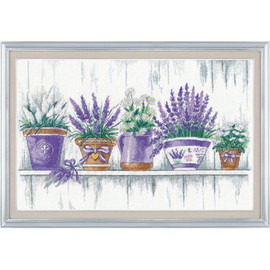 Lavender Tenderness Cross Stitch Kit by Oven