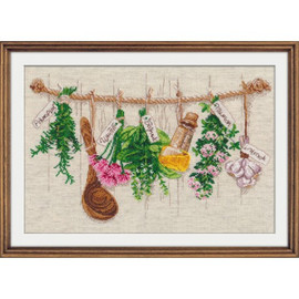 Fragrant Herbs Cross Stitch Kit By Oven
