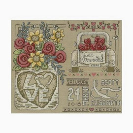 Rustic Wedding Cross Stitch Chart by Diane Arthurs