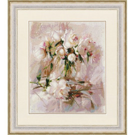 Air peonies  Cross Stitch Kit By Golden Fleece