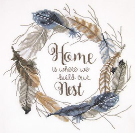 Build our Nest Stamped Cross Stitch Kit By Janlynn