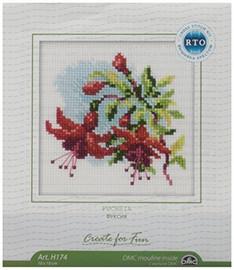 Fuchsia Cross Stitch Kit by RTO