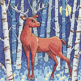 Stag Cross Stitch Kit By Heritage Crafts