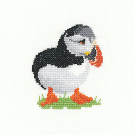 Puffin Cross Stitch Kit By Heritage Crafts