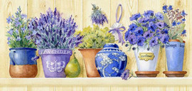 Lavender Pots CANVAS By Grafitec