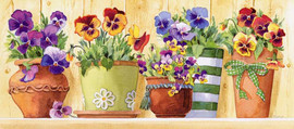 Pansy Pots CANVAS By Grafitec