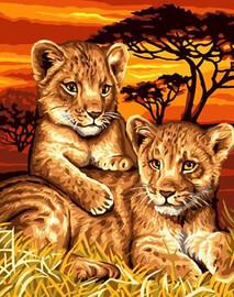 Lion Cubs CANVAS By Grafitec
