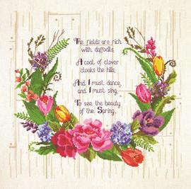 Spring Sentiments Cross Stitch Kit By Janlynn