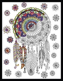Zenbroidery - Trendy Dreamcatcher Printed Embroidery Kit By Design Works