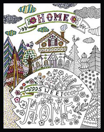 Zenbroidery - Our Home Sweet Home Printed Embroidery Kit By Design Works