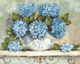Hydrangeas Cross Stitch Kit By Luca S
