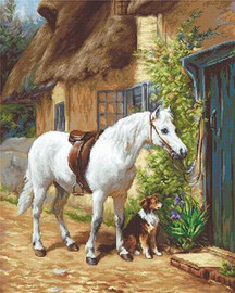 By the Cottage Cross Stitch Kit By Luca S