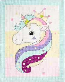 Unicorn Mat Cross Stitch Kit By Luca S