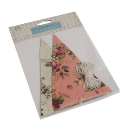 Make-Your-Own Bunting Kit: Linen: Pink Floral