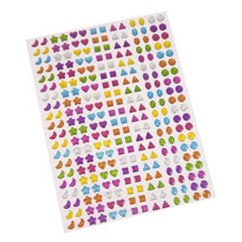 Gem Worksheet: Pack of 280 Mixed Colours and Shapes
