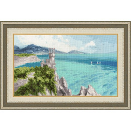 YALTA THE SWALLOW'S NEST Cross Stitch kit by Golden Fleece