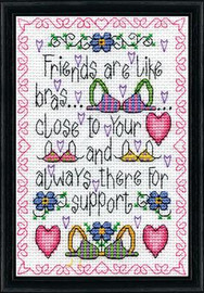 Support Cross Stitch Kit By Design Works