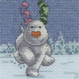 The Snowdog - Fir Trees Cross Stitch Kit By DMC