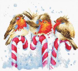 Christmas Birds Cross Stitch Kit By Luca S