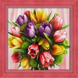 Tulip Bonquet Diamond painting Kit