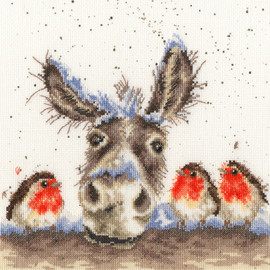 Christmas Donkey Cross Stitch Kit by Wrendale Designs