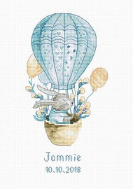 Rabbit in Balloon Cross Stitch Kit by Luca S