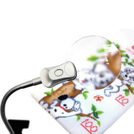 Clip on Magnifying Lamp