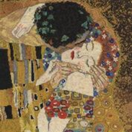 The Kiss by Gustav Klimt Cross Stitch Kit  DMC