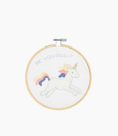 DMC Unicorn Cross Stitch Kit with Hoop