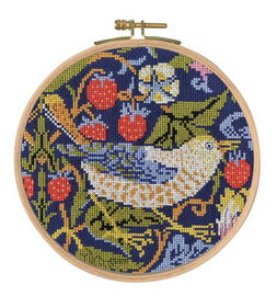 The Strawberry Thief Cross Stitch Kit by William Morris