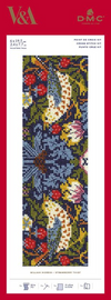 Strawberry Thief Bookmark Cross stitch Kit by William Morris