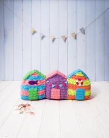 Crochet Pattern Beach huts By DMC