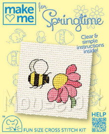 Make me for springtime Bee Cross Stitch Kit by Mouseloft