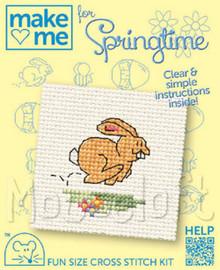 Make me for Springtime Bunny Cross Stitch Kit by Mouseloft