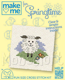 Make me for Springtime Lamb Cross Stitch Kit by Mouseloft