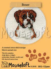 Boxer Cross Stitch Kit by Mouseloft