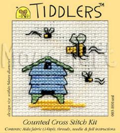 Beehive Tiddler Cross stitch Kit by Mouseloft