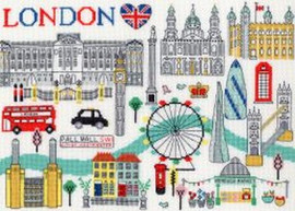 Love London Cross Stitch Kit By Bothy Thread