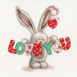 Bebunni Love you Cross Stitch Kit by Bothy threads
