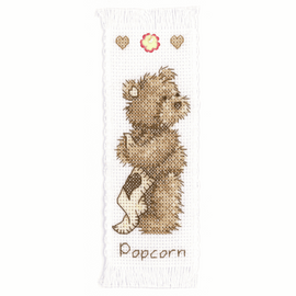 Counted Cross Stitch Kit Bookmark Popcorn