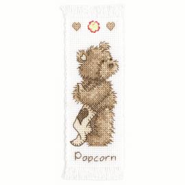 Counted Cross Stitch Kit Bookmark Popcorn
