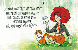 That Diet Cross Stitch Kit By Lavender Lister