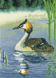 Grebe Cross Stitch Kit By Heritage Crafts