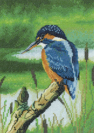 Kingfisher Cross Stitch Kit By Heritage Crafts