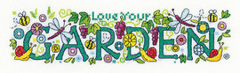 Love Your Garden Cross Stitch Kit By Heritage Crafts
