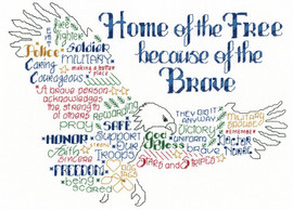 Let's Be Brave Cross Stitch Chart By Ursula Michael