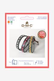 DMC Leatherette Bracelet Embroidery Kit