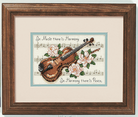 Music is Harmony Mini Counted Cross Stitch Kit