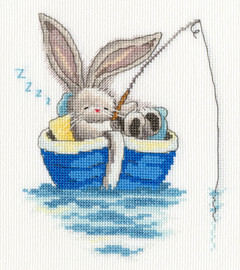 Bebunni - Gone Fishing Cross Stitch Kit By Bothy Threads
