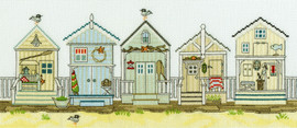 New England: Beach Huts Cross Stitch Kit By Bothy Threads